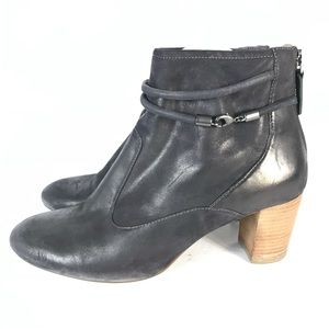 Ecco ankle boots heels leather